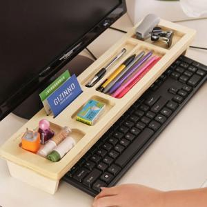 Wood Desk Organizer Stationery Case..